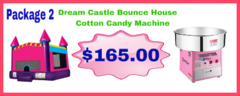 Dream Castle Bounce House 13x14 + Cotton Candy Machine